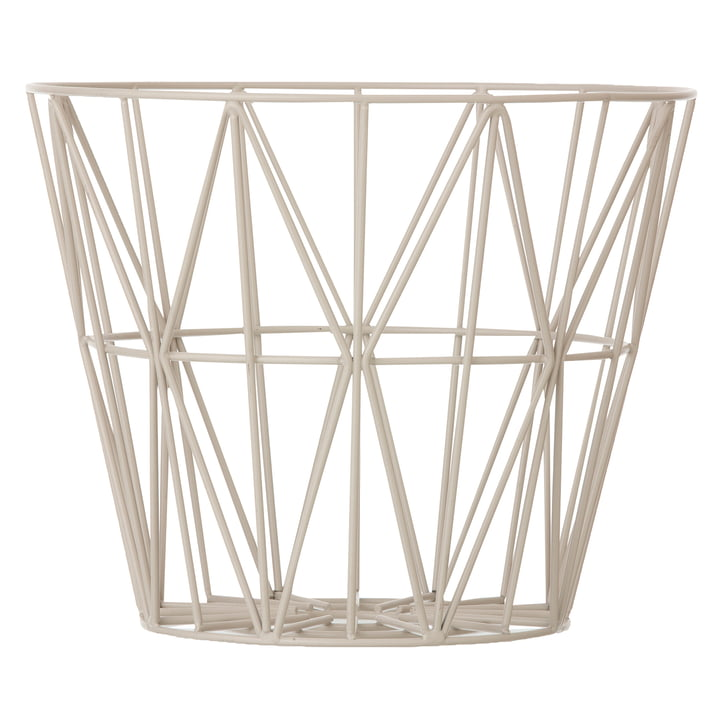 Wire Basket Large von ferm Living in Grau