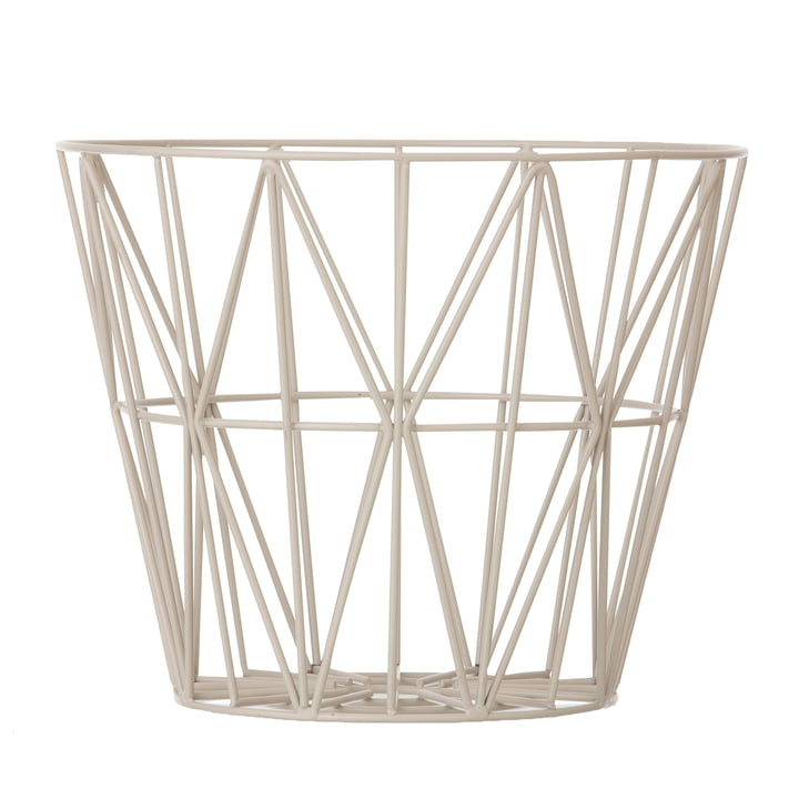 ferm Living - Wire Basket Medium, grau