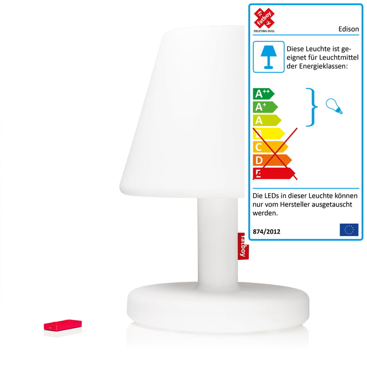 Die Fatboy - Edison the Grand LED mit Infrarotfernbedienung