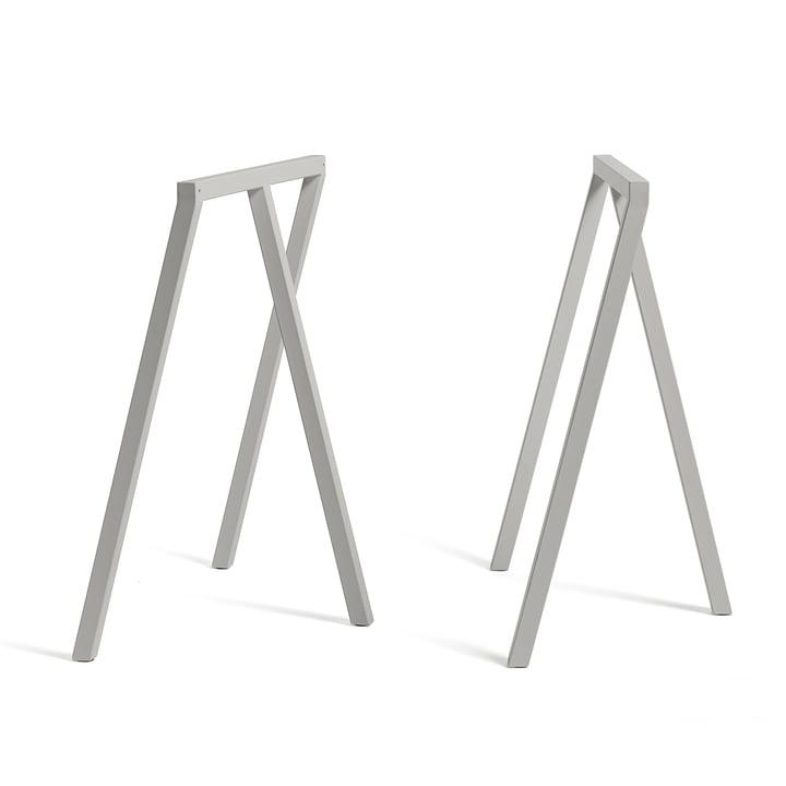 Loop Tischböcke Stand Frame von Hay in Grau (2 Stück)