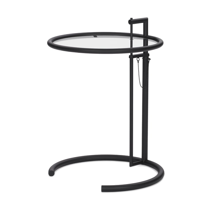 ClassiCon - Adjustable Table E1027, schwarz / Kristallglas