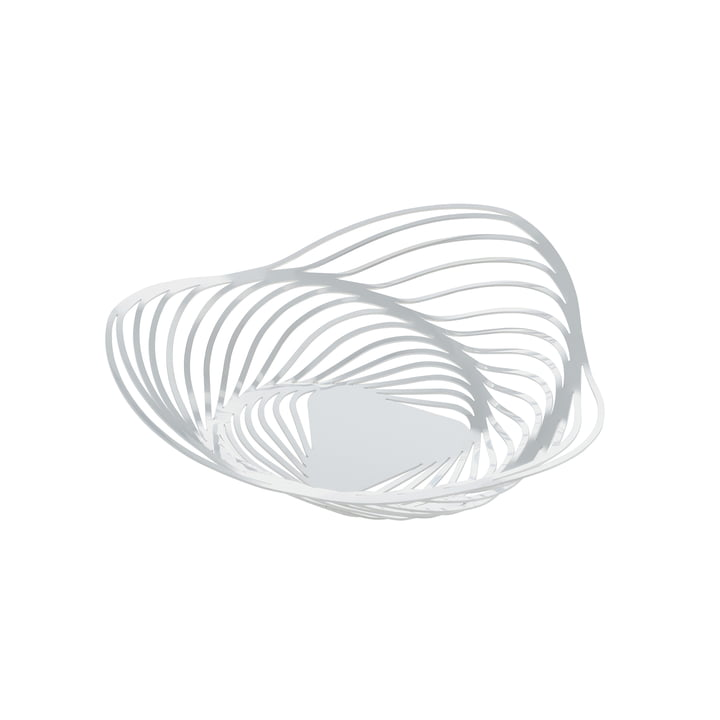 Alessi - Trinity Korbschale, Ø 26 cm, weiß