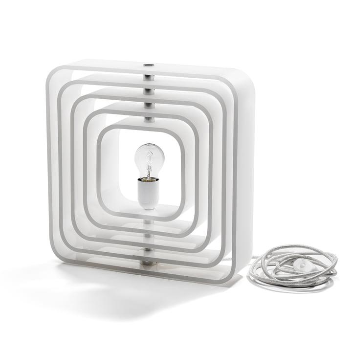 BeDesign - QBE-Light Tischleuchte, matt weiß