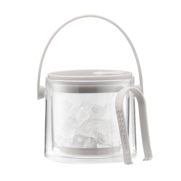 Bodum - Cool Eiskübel mit Zange 1,5 l, cremefarben