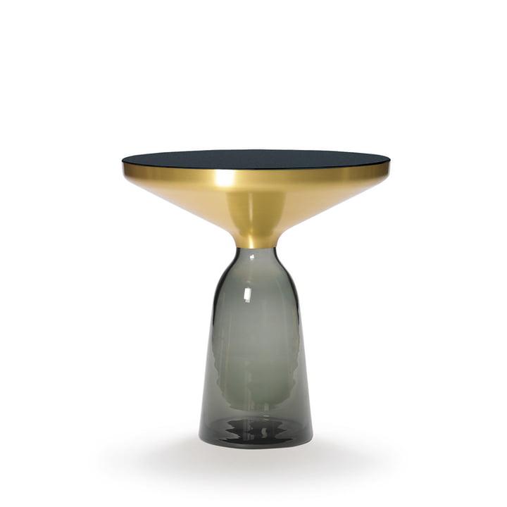 Bell Beistelltisch von ClassiCon in Messing / Quarz-Grau
