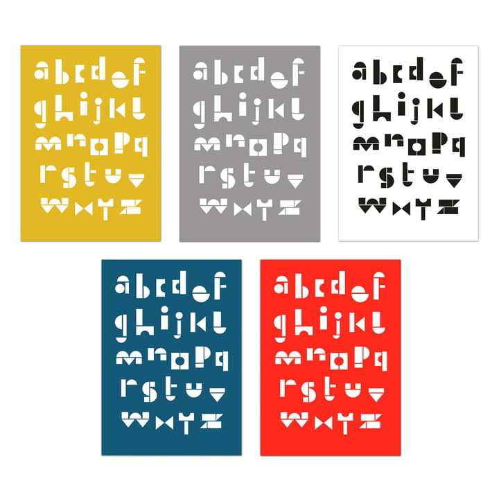 snug.abc Postkarten (5er-Set) von Snug.studio