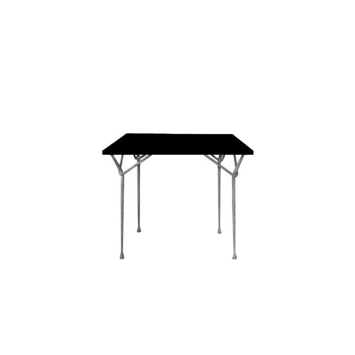 Magis - Officina Esstisch 90 cm, verzinkt / schwarz