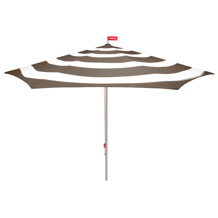 Stripesol Sonnenschirm mit Standfuß von Fatboy in Taupe