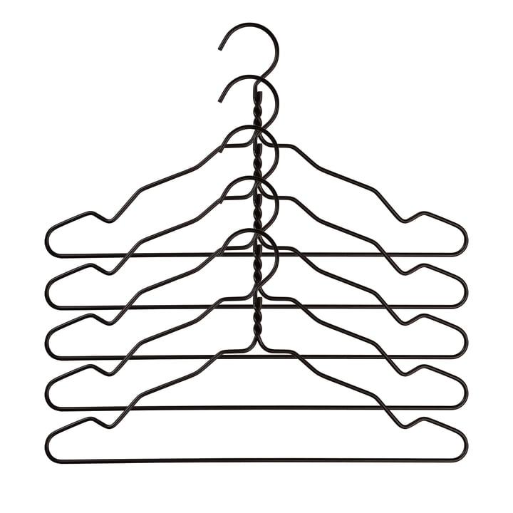 Nomess - Alu Hanger mit Kerbe (5er-Set), schwarz