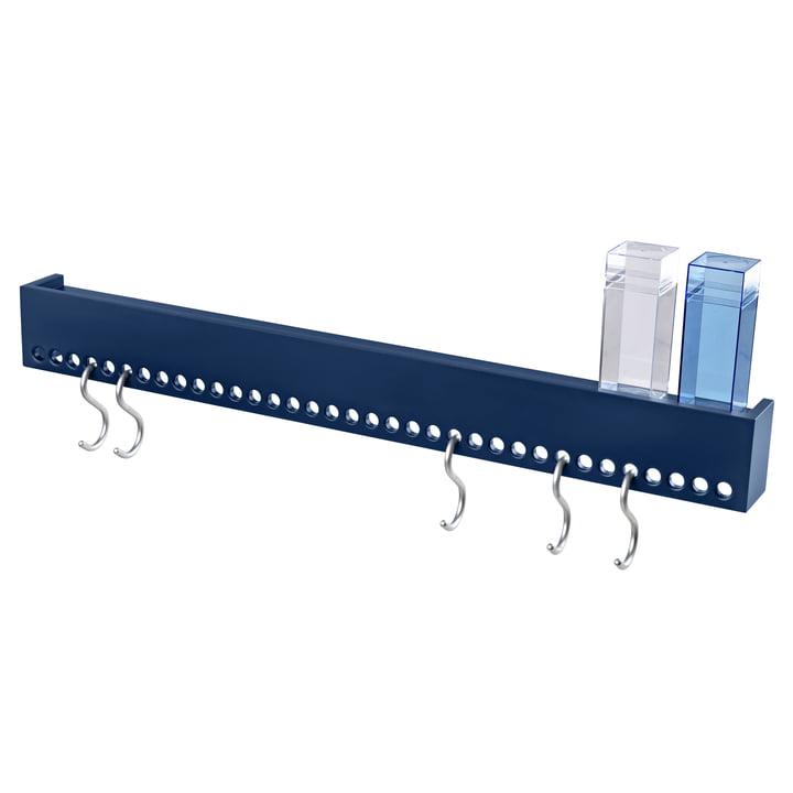 So-Hooked Wandgarderobe 90 cm von Nomess in blau