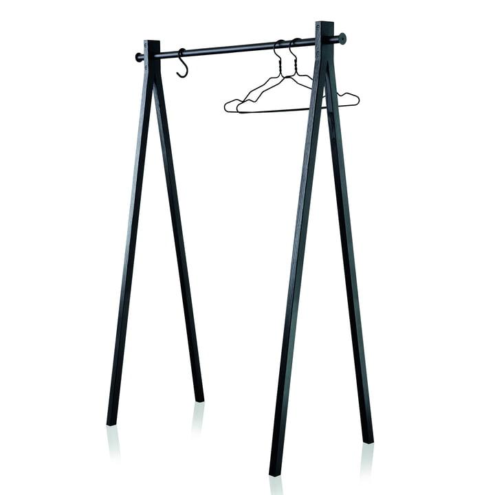 Nomess - Dress-Up Garderobenständer, schwarz / schwarz, 120 cm