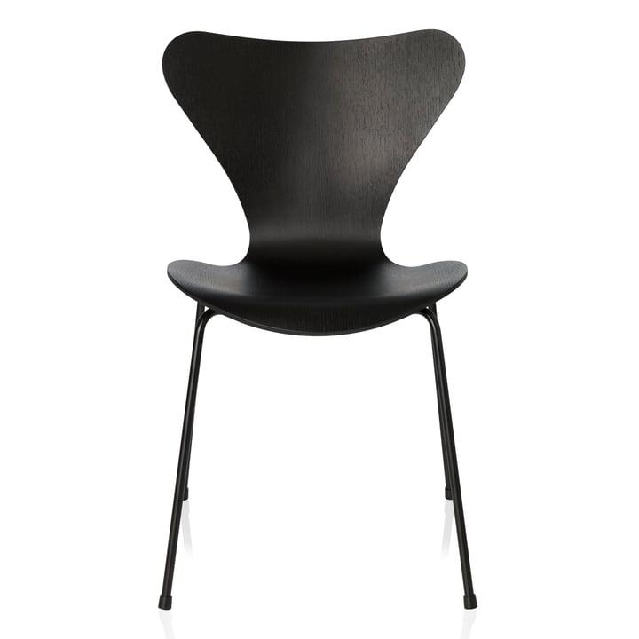 Fritz Hansen - Serie 7 Stuhl, Monochrom schwarz, 46.5 cm