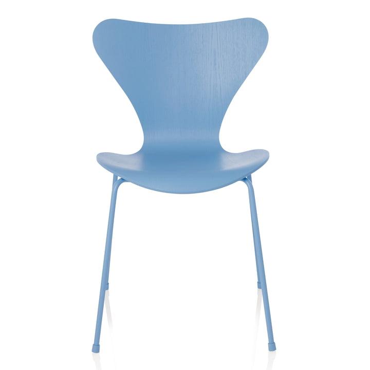 Fritz Hansen - Serie 7 Stuhl, Monochrom Trieste Blue, 46.5 cm