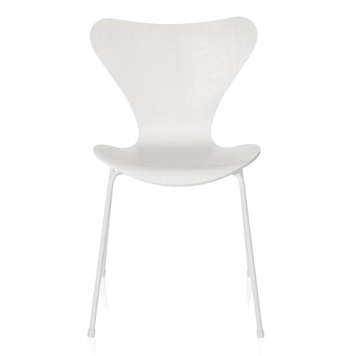 Fritz Hansen - Serie 7 Stuhl, Monochrom weiß, 46.5 cm