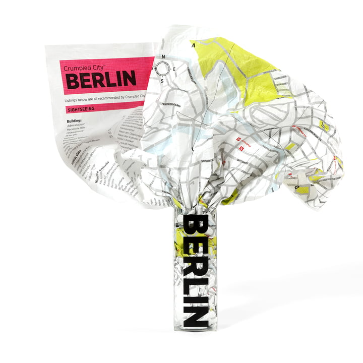 Crumpled City Map - Berlin von Palomar