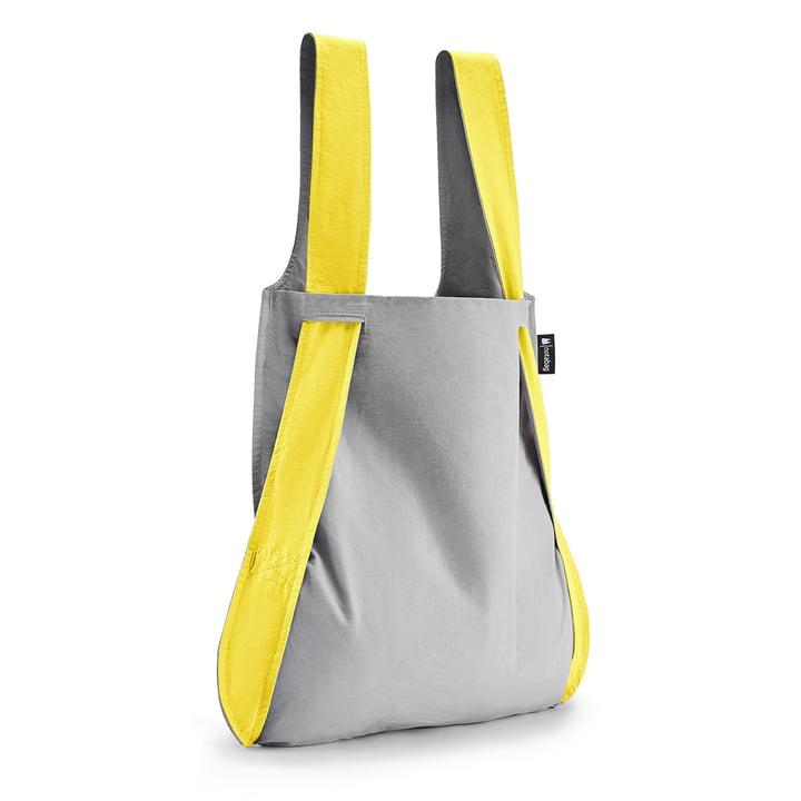 Tasche und Rucksack von Notabag in gelb / grau