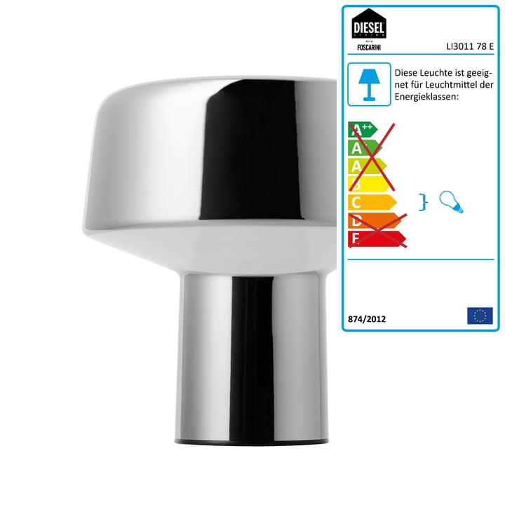 Diesel Living - Glass Drop Tischleuchte, Chrom