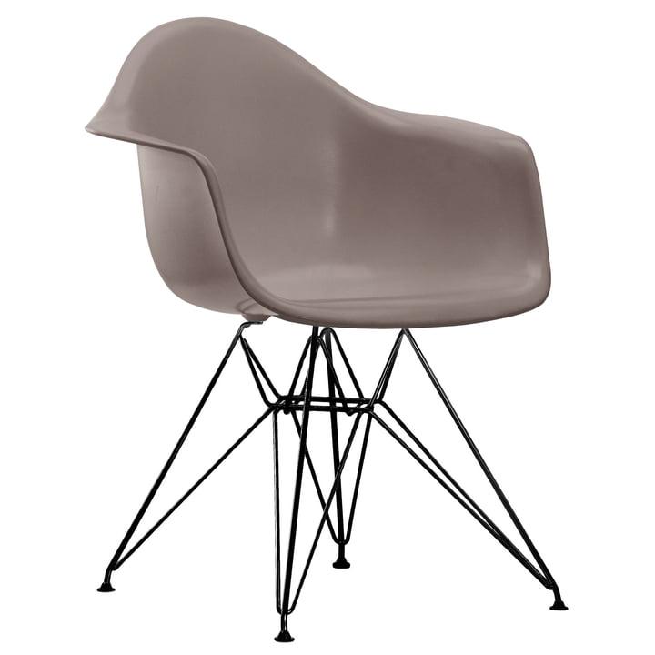 Eames Plastic Armchair DAR von Vitra in basic dark / mauve grau