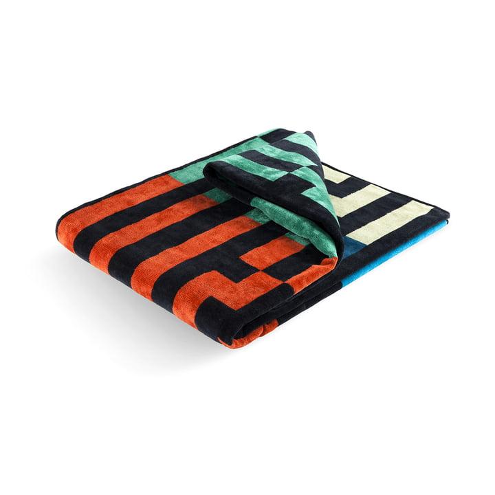Multicolour Waves Strandtuch 100 × 180 cm von Zuzunaga