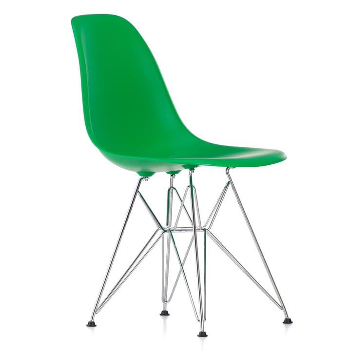 Eames Plastic Side Chair DSR von Vitra in verchromt / classic green