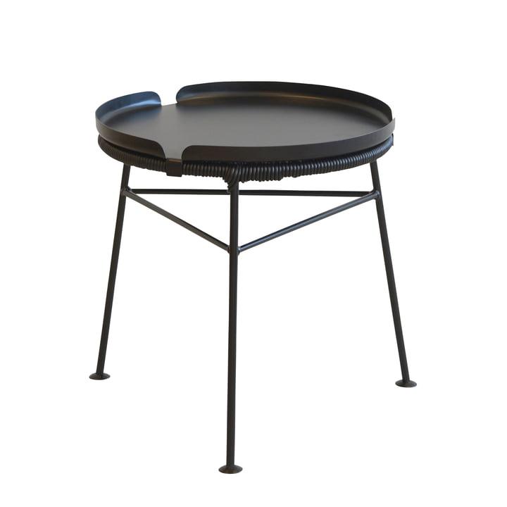 OK Design - Centro Tisch, schwarz / Tray, schwarz