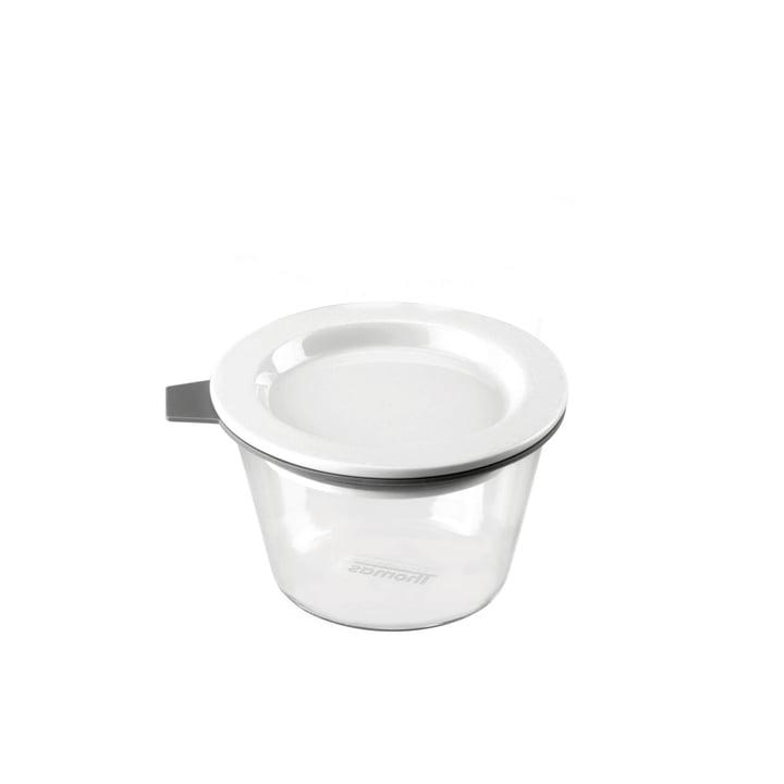 Thomas - Food Container Glas, 140 ml, Silikonring grau