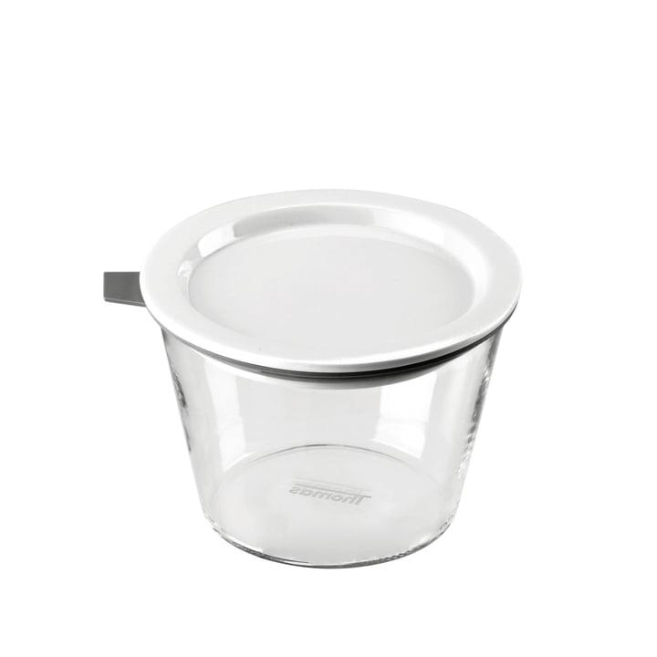 Thomas - Food Container Glas, 500 ml, Silikonring grau