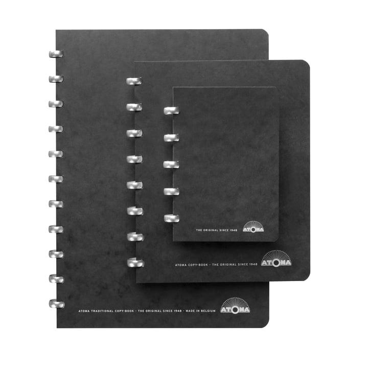Atoma - Classic Alu Notizbücher, Trio in schwarz