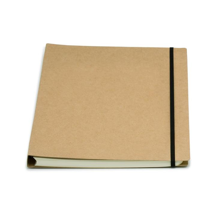 Atoma - Alain Berteau Notizbuch kariert A4, sandfarben
