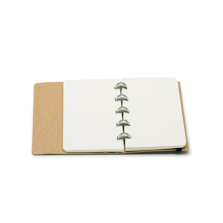 Atoma - Alain Berteau Notizbuch Mini, sandfarben