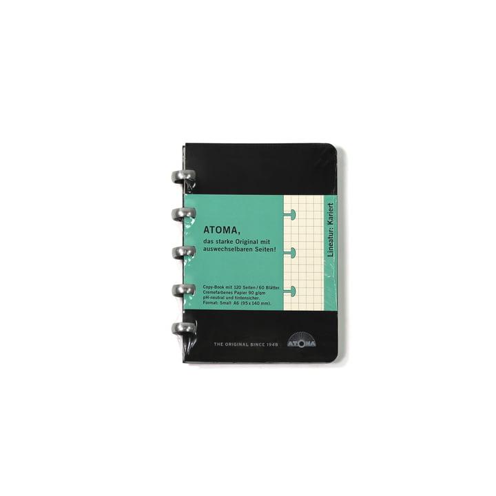 Atoma - Classic Alu Notizbuch Kariert 95 x 140, schwarz