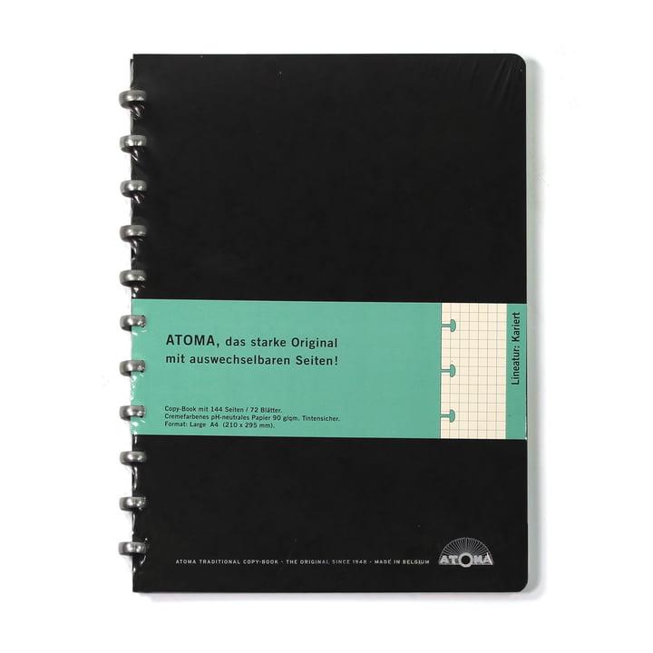 Atoma - Classic Alu Notizbuch Kariert 210 x 295, schwarz