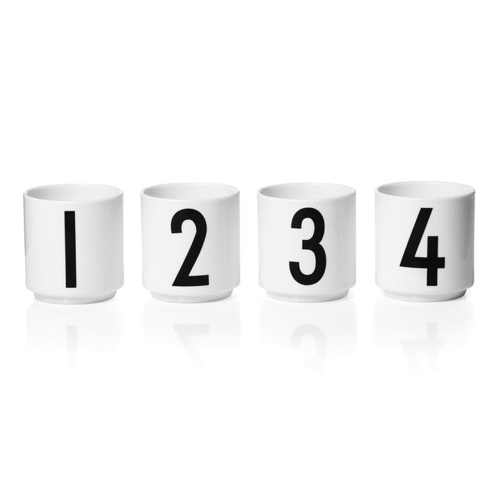 Design Letters - Porzellan Mini-Becher (4er-Set)