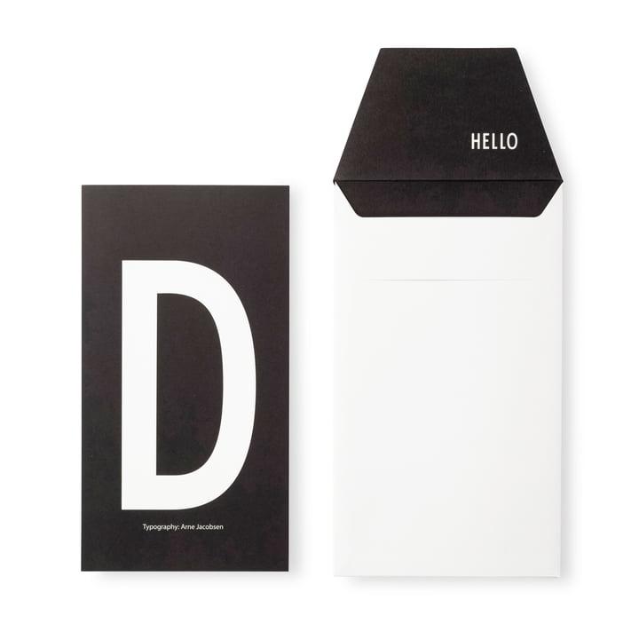 Design Letters - AJ Postkarte D