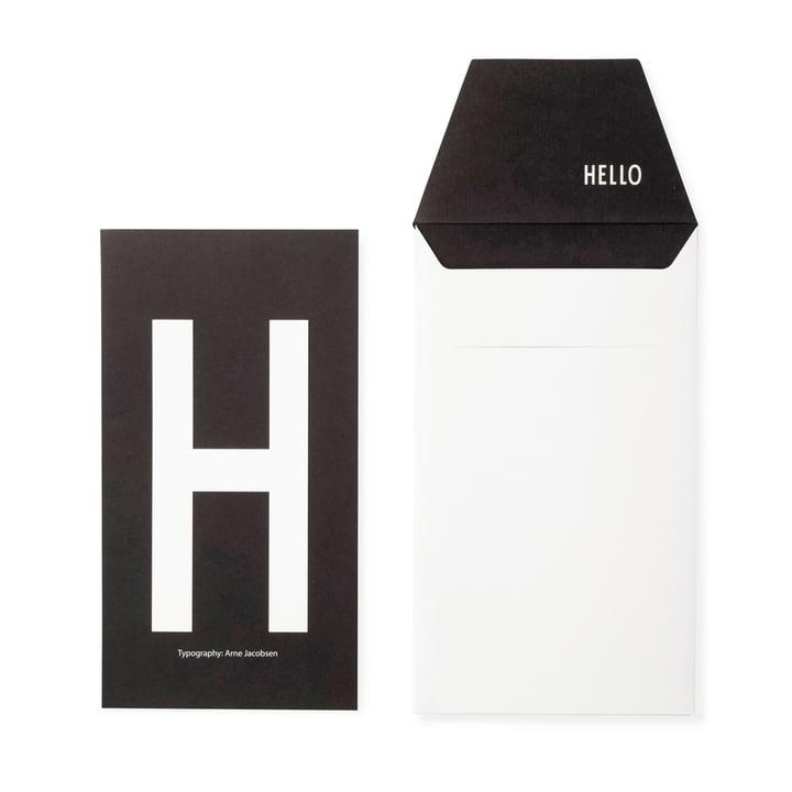 Design Letters - AJ Postkarte H