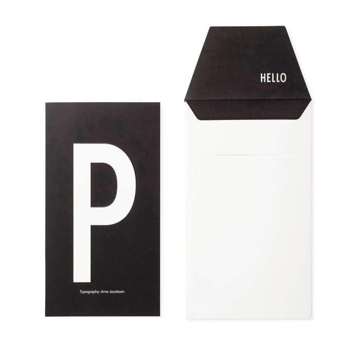 Design Letters - AJ Postkarte P