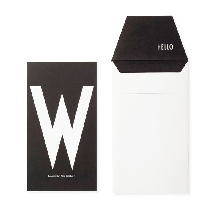 Design Letters - AJ Postkarte W