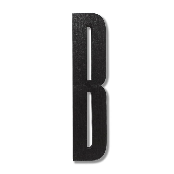Wooden Letters Indoor B von Design Letters in Schwarz