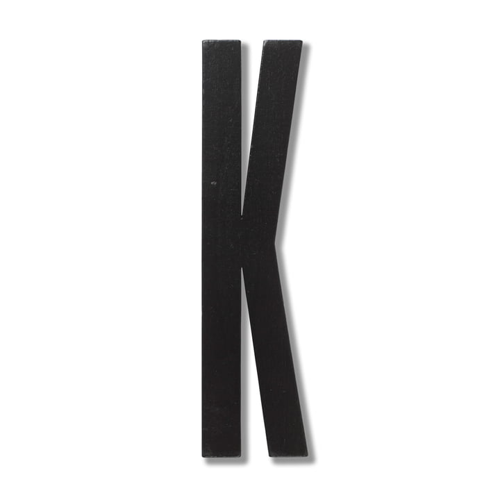 Wooden Letters Indoor K von Design Letters in Schwarz
