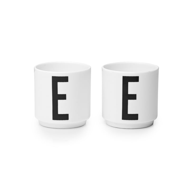 Design Letters - Porzellan Eierbecher E (2er-Set)