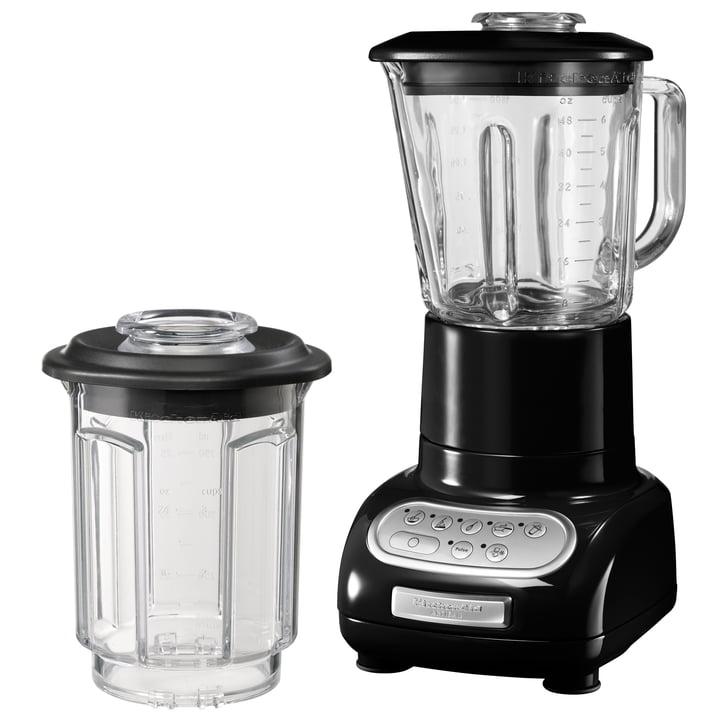KitchenAid - Artisan Standmixer mit 1.5 l Glasbehälter und 0.75 l Küchenmixbehälter, onyx schwarz