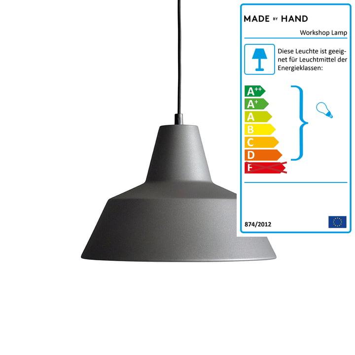 Made by Hand - Workshop Lamp W3, anthrazitgrau