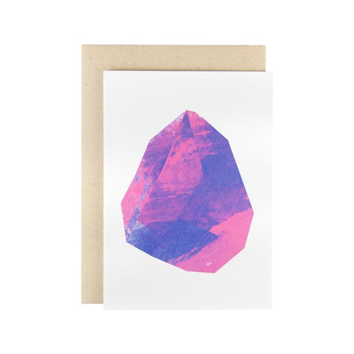 Karte - Make Like Paper Grußkarte in Magenta