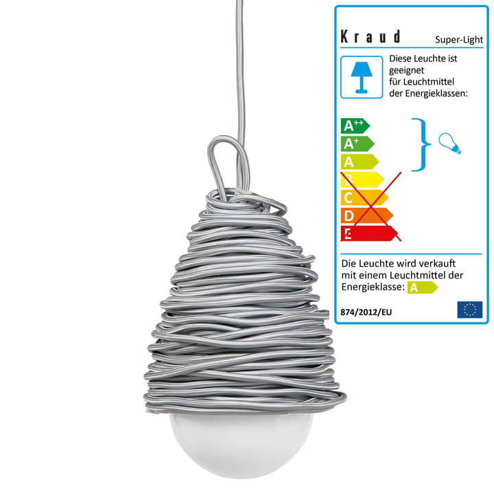 Kraud - Super-Light Classic Lampe, silber