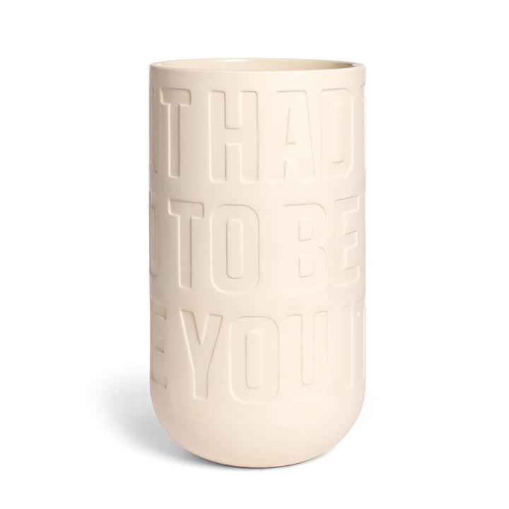 Kähler Design - Love Song Vase H 300 in Kalkweiß