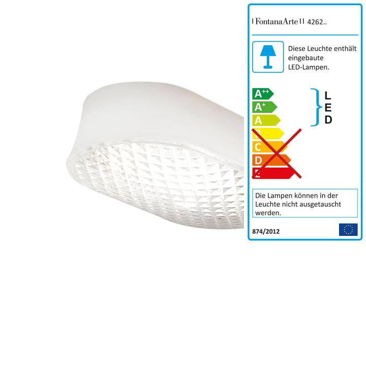 FontanaArte - Vitro LED Wand-und Deckenleuchte, transparent