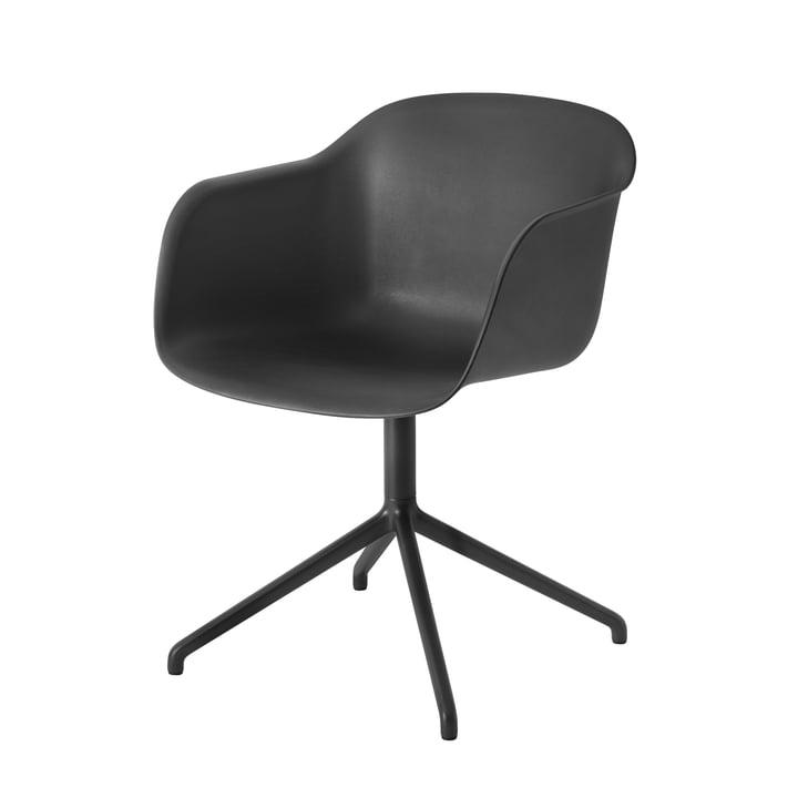 Fiber Chair Swivel Base von Muuto in schwarz