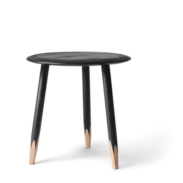 &tradition - Hoof Beistelltisch SW1, Ø 50 cm, Eiche schwarz gebeizt