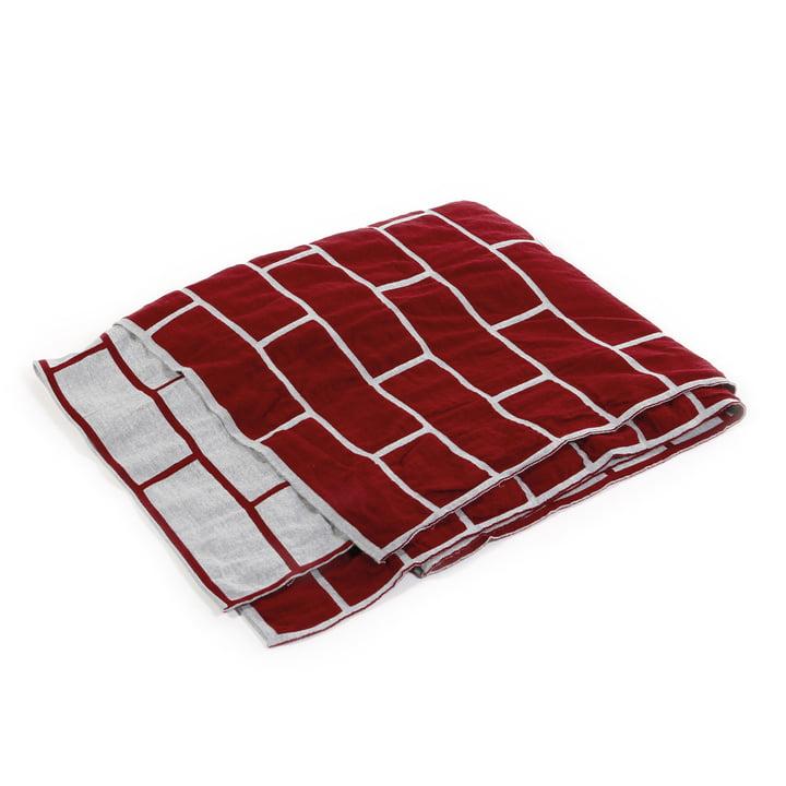 Pulpo - Brick Blanket, ruby rot / hellgrau