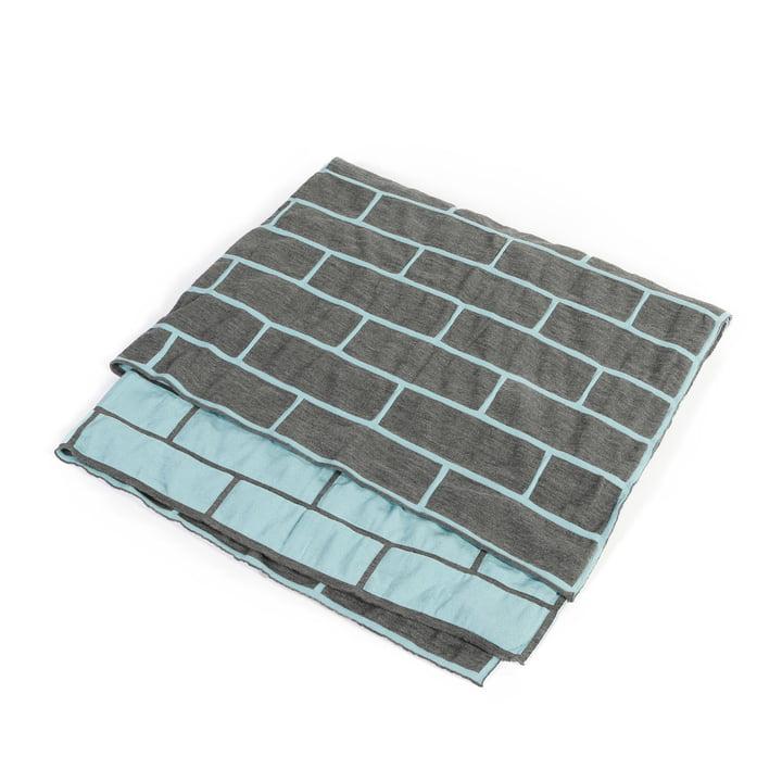 Pulpo - Brick Blanket, celeste blau / rauchgrau
